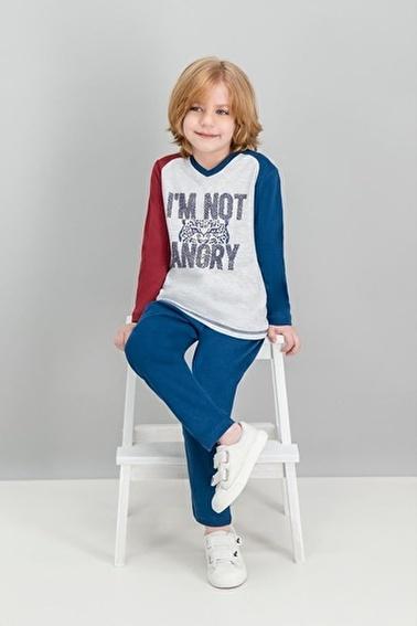 Roly Poly Rolypoly Angry Tiger Krem Erkek Çocuk Pijama Takımı Gri